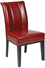 red eco leather parsons dining chair