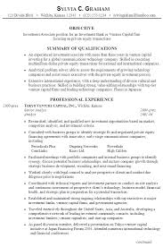 Example Resume Investment Associate Private Equity ...