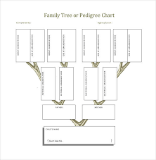 Family Pedigree Chart Template Family Tree Chart Template Elegant 35 Family Tree Templates
