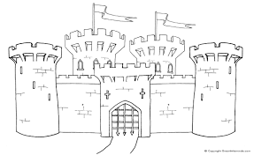 Small Picture Medieval Castle Colouring Page