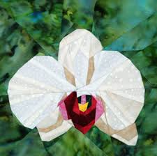 Phalaenopsis Orchid - Foundation Paper Piecing Pattern - 8