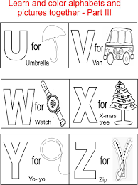 Toddler Learning Coloring Pages L L L