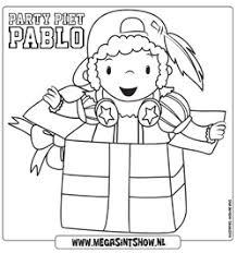 Party Piet Pablo Kleurplaat