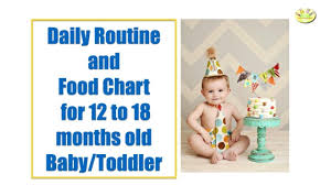 12 Months Old Baby Food Chart 12 Month Baby Food Chart Indian Meal Plan For 1 Year Old