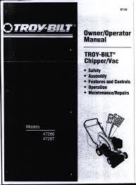 troy bilt chipper vac manual wiring