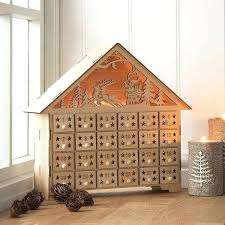 natural wood advent calendar house cool decorating ideas materials wooden large