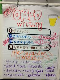 Anchor Chart Anchor Chart For Oreo Opinion Writing Writing Anchor