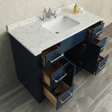 Vanity Bathroom Set Ace 48 Single Sink Bathroom Vanity Set Midnight Blue Finish