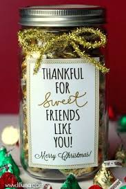 thankful for sweet friends like you gift idea cute simple inexpensive thank gifts diy handmade ideas