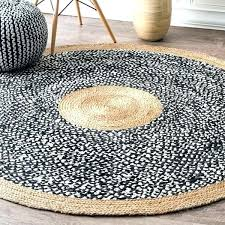 black oval rug causal natural fiber jute and cotton token area 3 white braided tan rugs