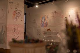drawing jam in the vu gallery wraps up this week on oct 21 get in and color on the walls before it s gone