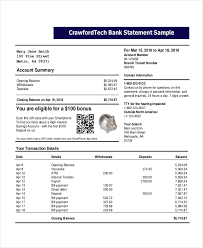Sample Bank Statement Beauteous Bank Statement Template 48 Free Word PDF Document Downloads