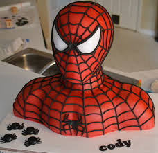 Fork Me Im Hungry Spider Man Bust Cake Geekologie