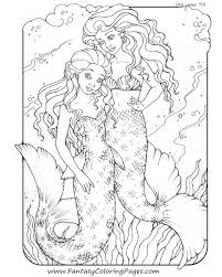 Mermaid Coloring Pages Coloringrocks