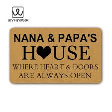 Papa Design Us 23 99 Nana Papas House Where Heart Doors Are Always Open Woven Outdoor Mat Design Outdoor Entrance Doormats In Mat From Home Garden On