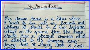 Write about your ideal home. 10 Lines Essay On Dream House 10 Lines On My Dream House Essaywriting 10linesessay Youtube