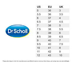 Dr Scholls Shoe Size Chart Best Picture Of Chart Anyimage Org