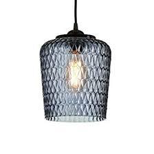 Wonderful IMPRESSIONEN Living Deckenleuchte   Reliefmuster   Retro Look   Grau/Blau:  Amazon.de: Beleuchtung