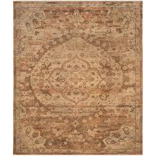 safavieh hand knotted izmir gold rose new zealand wool rug 8 x 10