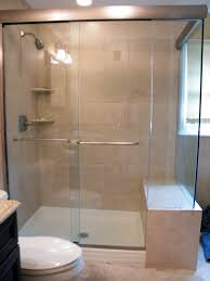 image of frameless sliding shower doors bathroom