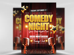 talent show flyer template free comedy night flyer template flyerheroes