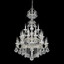 schonbek la scala 25 light rock crystal chandelier