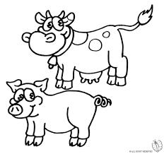 Disegno Di Animali Della Fattoria Da Colorare Per Bambini Con