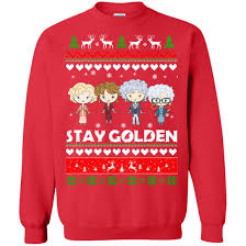 Golden Girls Stay Ugly Christmas Sweater, Hoodie - Rockatee