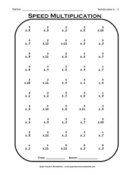 Blank Multiplication Table 3rd Grade Times Tables