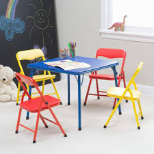 set of folding chairs. Pink Girls Wooden Table And Chairs Children\u0027s Dinner Kids Folding Set Toddler Chair Child\u0027s Of H