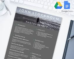 Photographer Editable Resume Template For Google Docs Google Drive