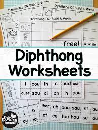 Diphthong Worksheets - Build & Write - This Reading Mama