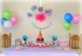 Small Picture Decor View How To Make Birthday Party Decorations Inspirational