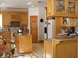 image of beautiful kitchen paint colors with light oak cabinets