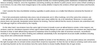 ban smoking in public places essay docoments ojazlink essay on banning smoking in public places