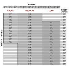 36r Jacket Size Chart 51 True 36r Size Chart
