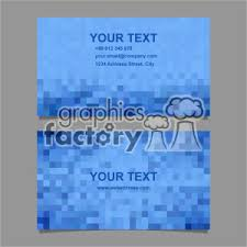 Vector Business Card Template Set 063 Clipart Royalty Free Clipart