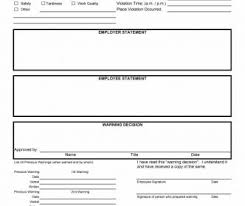 Employee Disciplinary Write Up Employee Write Up Form Verbal Warning Template Disciplinary Action