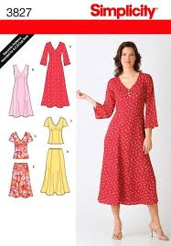 Dress Patterns Amazing Simplicity Sewing Pattern Misses And Womens Dress Pattern Plus Size