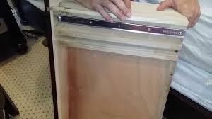 Kitchen Cabinet Drawers Slides Dresser Drawer Repair Installing Under Mount Drawer Slides Youtube