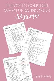 Things To Consider When Updating Your Resume Keeping The Creativity