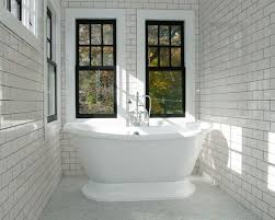 Mid-sized Elegant Master White Tile And Subway Ceramic Floor Bathroom  Photo In New Houzz