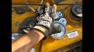cub cadet mower belt (coming off) deck fix lt 1045 part 1 youtube cub cadet lt1045 pto wiring diagram at Cub Cadet Wiring Diagram Lt1045