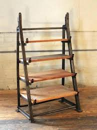 vine shelf unit industrial custom factory cast iron wood shelving storage corner old door shelves by