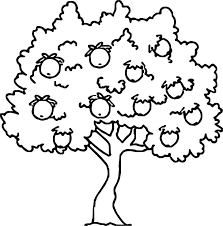 Apple Tree Coloring Sheet Apple Tree Coloring Page Apple Tree