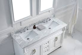 virtu usa 60 victoria double sink vanities square sink bathroom vanity set in white with