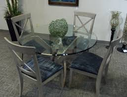 bermex wipe stained 54 round glass dining set