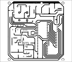 digital temperature controller full circuit diagram with explanation Digital Temperature Controller Circuit Diagram 4 configuration bit fig 5 combined actual size, single side pcb layout for the digital temperature controller using thermocouple circuit diagram