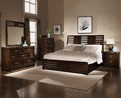 Painting Colors For Bedrooms Rustic Bedroom Decor With Light Beige Painted Wall And Natural Oak