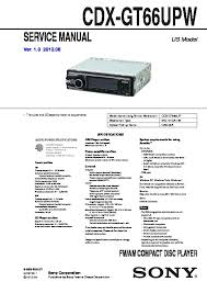 sony cdx gt66upw service manual free download sony cdx gt66upw specs at Cdx Gt66upw Wiring Diagram